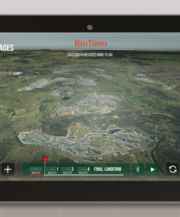 Interactive tool that explains Rio Tinto's HVO South consent in the Hunter Valley Australia